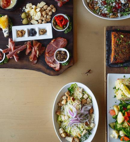 Meet and cheese tray at MoMo pizzeria