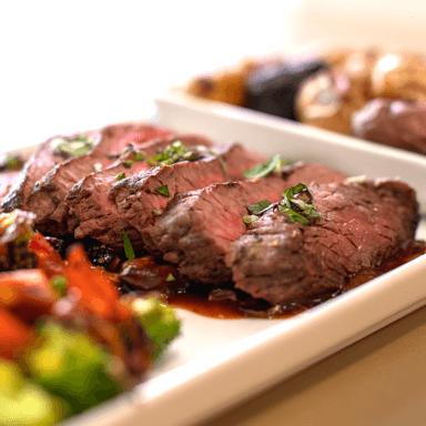 Closeup of steak